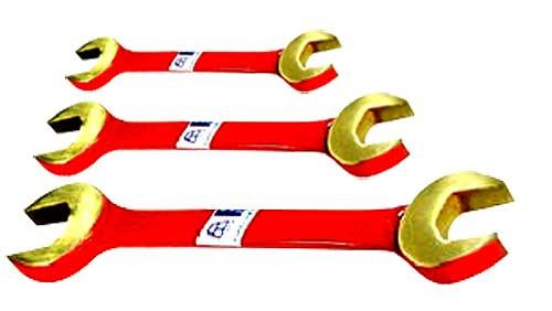 Двусторонний рожковый ключ искробезопасный. ручной слесарно-монтажный